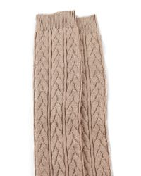 Falke   Natural Striggings Cable Knit Knee High Socks - Grey   Lyst