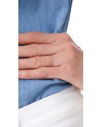 Gabriela Artigas - Metallic Knot Ring - Yellow Gold - Lyst