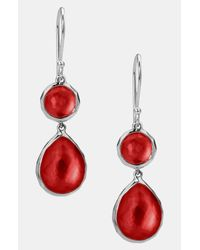 Ippolita | Red Wonderland Double Drop Earrings | Lyst