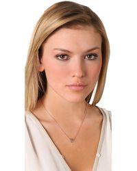 Jennifer Zeuner - Pink Mini 12 Heart Necklace with Diamond - Lyst