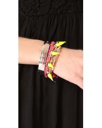 Joomi Lim - Orange Punk Carnival Spike Bracelet - Lyst