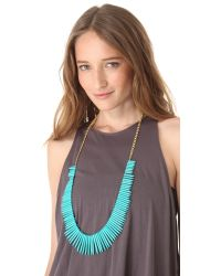 Kenneth Jay Lane - Metallic Turquoise Stick Necklace - Lyst