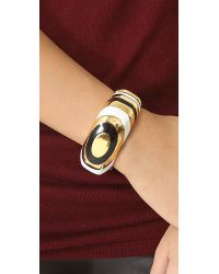 Kenneth Jay Lane - White Enamel Cuff Bracelet - Lyst