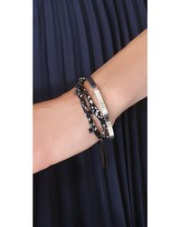 Marc By Marc Jacobs | Black Braided Charm Double Wrap Bracelet | Lyst