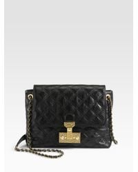 353152ad58c Marc Jacobs Baroque Xl Single Quilted Shoulder Bag in Black - Lyst