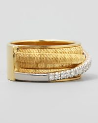 Marco Bicego | Metallic Diamond Cairo 18k Five-strand Ring With Diamond Accent | Lyst