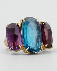 Marco Bicego | Blue Murano 18k Large Three-stone Ring | Lyst