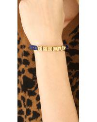 Michael Kors | Blue Saffiano Pyramid Bracelet | Lyst