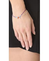 Petite Grand | Blue Cord Chain Wrap Bracelet | Lyst