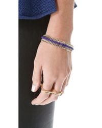Shashi - Metallic Serena Clasp Bracelet - Lyst