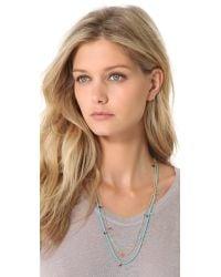 Shashi - Blue Lilu Necklace - Lyst