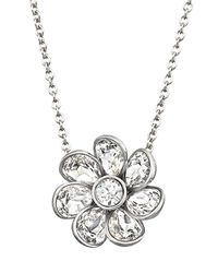 Swarovski - Metallic Renee Flower Crystal Pendant Necklace - Lyst