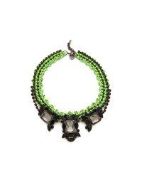Venessa Arizaga - Green Apple Martini Necklace - Lyst