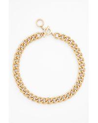 Anne Klein | Metallic Curb Link Chain Necklace | Lyst
