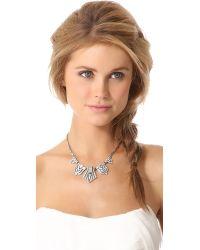 Ben-Amun | Metallic Crystal Statement Necklace Clear | Lyst