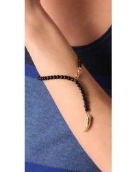 CC SKYE | Metallic Lucky Horn Rosary Bracelet | Lyst
