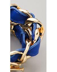 CC SKYE - Blue Double Wrap Woven Bracelet - Lyst