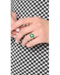 Elizabeth and James - Green Northern Star Cabochon Ring - Lyst