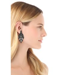 Elizabeth Cole | Black Ombre Bacall Earrings | Lyst