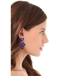 Giles & Brother - Purple Hex Mesh Dangle Earrings - Lyst