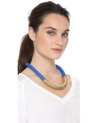 Holst + Lee - Blue Holst Lee Classic Short Necklace - Lyst