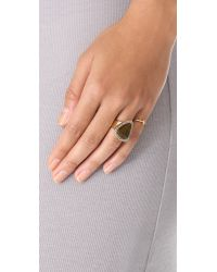House of Harlow 1960 - Metallic Band Ring - Lyst