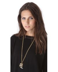 Kara Ross | Metallic Snake Wrap Horn Necklace | Lyst