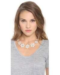 kate spade new york - Metallic Floral Fete Graduated Necklace - Lyst