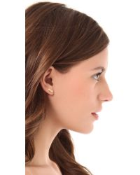 kate spade new york - Metallic Shoe in Heel Stud Earrings - Lyst