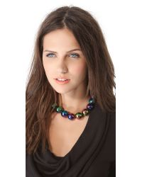 Kenneth Jay Lane - Blue Rainbow Beads Necklace - Lyst