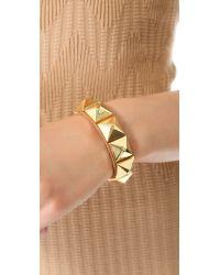 Linea Pelle - Brown Grayson Wide Pyramid Bracelet - Lyst