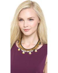 Lizzie Fortunato - Metallic Navy Greys Necklace - Lyst