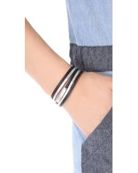Marc By Marc Jacobs | Black Multi Leather Toggle Bracelet | Lyst