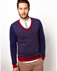 Pistol Panties - Blue Merc Sweater with Paisley Pattern for Men - Lyst