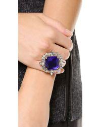 Noir Jewelry | Purple Gem Cocktail Ring | Lyst