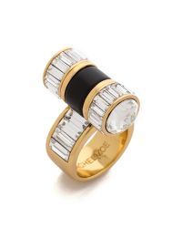Rachel Zoe - Metallic Single Barrel Baguette Ring - Lyst