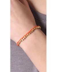 Shashi - Orange Single Petit Golden Nugget Adjustable Bracelet - Lyst