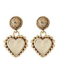 Stephen Dweck | Metallic Rock Crystal Over Motherofpearl Heart Earrings | Lyst