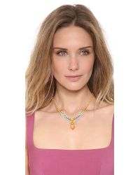 Tom Binns - Metallic Neon Crystal Necklace - Lyst