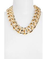 TOPSHOP | Metallic Thick Chain Necklace | Lyst