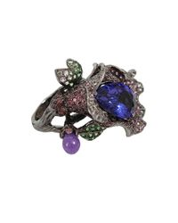 Wendy Yue | Metallic Tanzanite Flower Ring | Lyst
