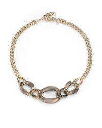 Alexis Bittar | Gray Lucite Crystal Chain Link Necklace | Lyst