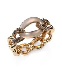 Alexis Bittar - Metallic Lucite Crystal Chain Link Bangle Bracelet - Lyst