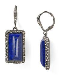 Alexis Bittar - Blue Pavo Framed Lapis Baguette Leverback Earrings - Lyst