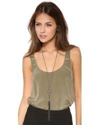 Alexis Bittar | Metallic Lace Tassel Pendant Necklace | Lyst