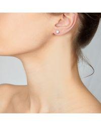 Astley Clarke - White Diamond Ball Stud Earrings - Lyst