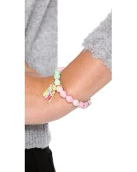 Chan Luu - Pink Breast Cancer Awareness Stretch Bracelet - Lyst