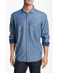 Cutter & Buck | Blue Vale Denim Sport Shirt for Men | Lyst