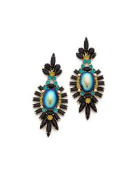 Elizabeth Cole - Black Large Oval Drop Earrings - Lyst