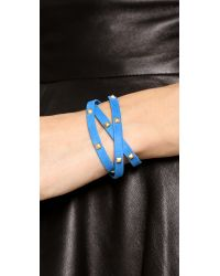 Gorjana - Blue Graham Sunset Leather Triple Wrap Bracelet - Lyst